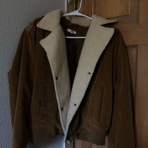BP sherpa lined corduroy jacket